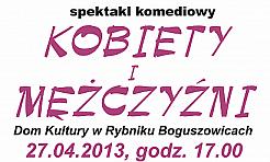 Spektakl komediowy Kobiety i mężczyźni - Serwis informacyjny z Rybnika - naszrybnik.com
