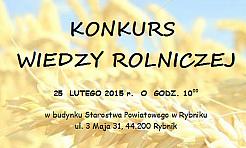 Konkurs wiedzy rolniczej - Serwis informacyjny z Rybnika - naszrybnik.com