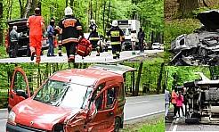 Czołowe zderzenie busa z BMW! DW919 na odcinku Jankowice-Rudy zablokowana! - Serwis informacyjny z Rybnika - naszrybnik.com