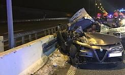 Samochód osobowy uderzył w naczepę ciągnika siodłowego. Jedna osoba nie żyje - Serwis informacyjny z Rybnika - naszrybnik.com