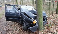Kradł paliwo a potem rozbił się na drzewie  - Serwis informacyjny z Rybnika - naszrybnik.com