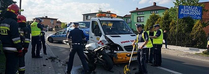 Wypadek z udziałem motocyklisty - Serwis informacyjny z Rybnika - naszrybnik.com