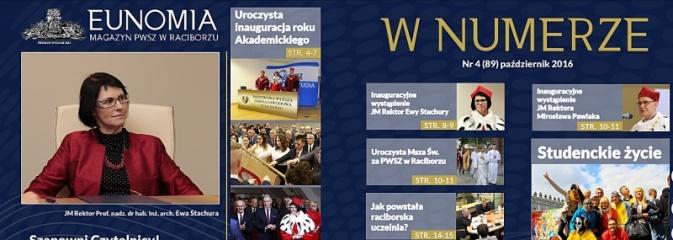 Raciborska Uczelnia świętuje 15-lecie. Zobacz jubileuszową Eunomię - Serwis informacyjny z Rybnika - naszrybnik.com
