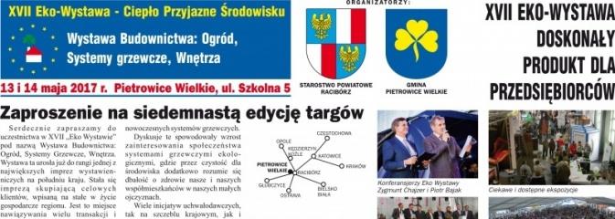 XVII Eko Wystawa w Pietrowicach już 13 i 14 maja. Gmina zaprasza wystawców - Serwis informacyjny z Rybnika - naszrybnik.com