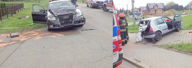 Wypadek dwóch samochodów w Świerklanach - Serwis informacyjny z Rybnika - naszrybnik.com
