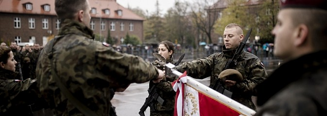 Przysięga żołnierzy 13. Śląskiej Brygady Obrony Terytorialnej - Serwis informacyjny z Rybnika - naszrybnik.com