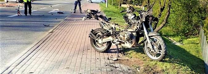 Groźny wypadek z udziałem motocyklisty - Serwis informacyjny z Rybnika - naszrybnik.com