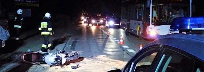 Wypadek z udziałem motocyklisty. Prowadzący pojazd trafił do szpitala - Serwis informacyjny z Rybnika - naszrybnik.com