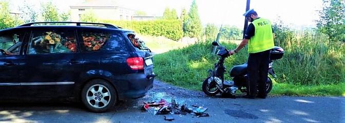 Wypadek z udziałem motorowerzysty w Lyskach - Serwis informacyjny z Rybnika - naszrybnik.com